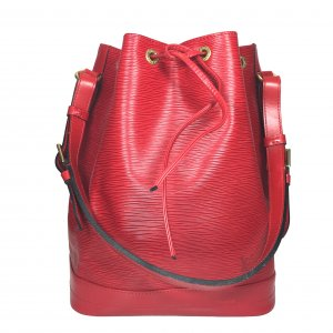 LOUIS VUITTON NOÉ GRAND MODEL SCHULTERTASCHE AUS EPI LEDER IN CASTILLIAN ROT