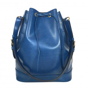 Louis Vuitton Borsetta blu-oro Pelle