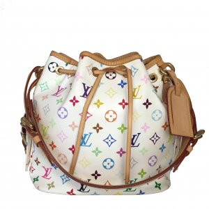 LOUIS VUITTON NOÉ PETIT MODEL SCHULTERTASCHE AUS MONOGRAM MULTICOLORE CANVAS
