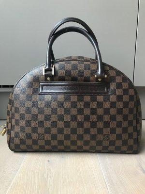 Louis Vuitton Sac à main brun-brun foncé lin
