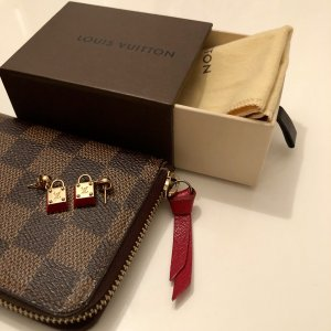 { Louis Vuitton Ohrringe in rot/gold }
