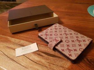 Louis Vuitton Portemonnee roségoud-bordeaux