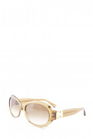 Louis Vuitton ovale Sonnenbrille hellbraun-goldfarben Beach-Look
