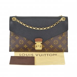 Louis Vuitton Pallas Chain Mon. Canvas Schwarz @mylovelyboutique.com