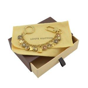 Louis Vuitton Porte-clés doré métal