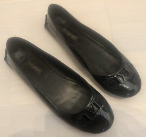 Louis Vuitton patent Leather Leder Logo Ballerinas 39