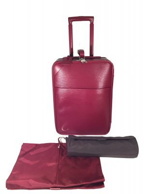 Louis Vuitton Trolley magenta Leer