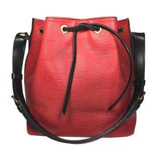 Louis Vuitton Petit Noe PM Epi Leder Bi Color Schwarz Rot Tasche Handtasche