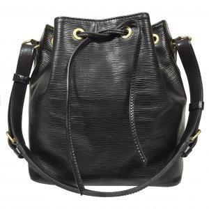 Louis Vuitton Petit Noe PM Epi Leder Kouril Schwarz Tasche Handtasche
