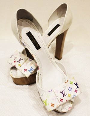 LOUIS VUITTON PLATEAU PUMPS Multi Color offen Gr. 36