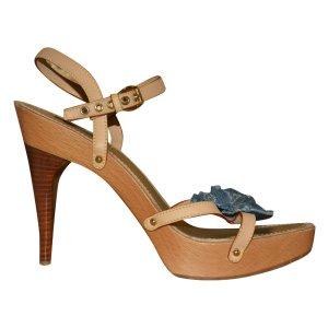 Louis Vuitton High Heel Sandal beige leather