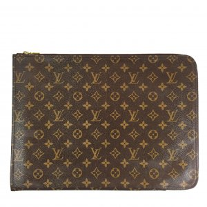LOUIS VUITTON POCHE DOCUMENTS CLUTCH AUS MONOGRAM CANVAS