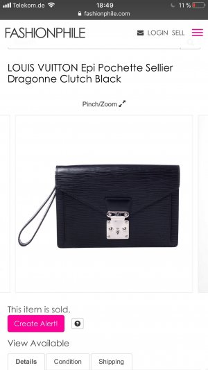 Louis Vuitton Enveloptas zwart
