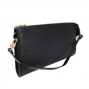 Louis Vuitton Bolso de mano negro-color oro Cuero