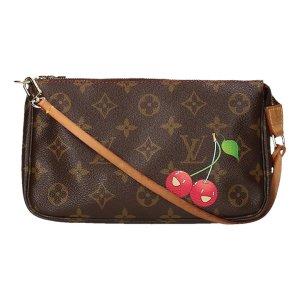 Louis Vuitton Borsa clutch marrone scuro-rosso lampone