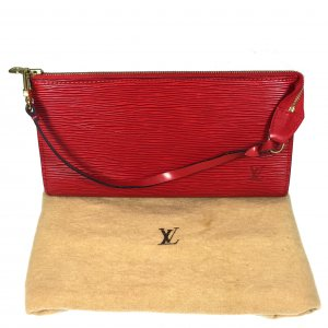 Louis Vuitton Pochette rouge-doré