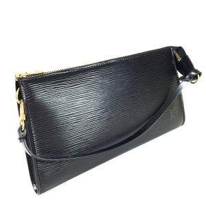 Louis Vuitton Pochette Accessoires Epi Leder Kouril Schwarz Tasche Handtasche