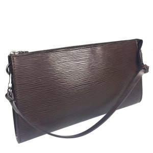 Louis Vuitton Clutch dark brown-light grey
