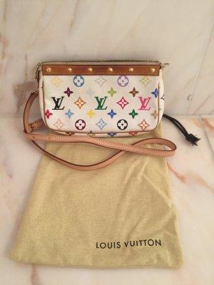 """Louis Vuitton """"Pochette Accessoires Monogram Multicolore Canvas Weiß"""