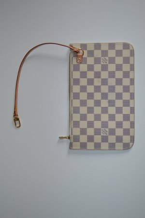 Louis Vuitton Clutch natural white leather