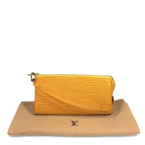 LOUIS VUITTON POCHETTE CLUTCH AUS EPI LEDER IN TASSIL GELB