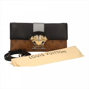 Louis Vuitton Pochette Column Umhängetasche aus Monogram Reverse Canvas Tasche Handtasche Clutch