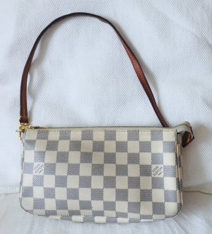 LOUIS VUITTON Pochette Damier Azur Canvas Clutch