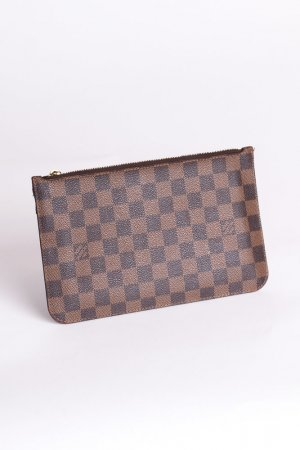 LOUIS VUITTON -Pochette Damier Ebene Canvas Rot