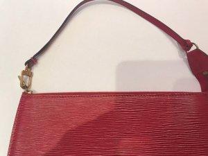 Louis Vuitton Bolso tipo pochette rojo oscuro