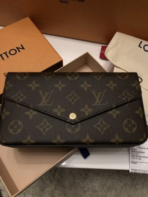 Louis Vuitton Bolso marrón-marrón-negro
