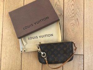 Louis Vuitton Pochette dark brown-brown leather