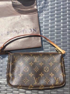 Louis Vuitton Sac de soirée brun faux cuir