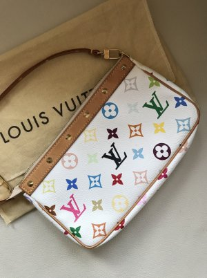 Louis Vuitton Pochette Multicolore in Weiß