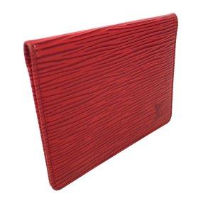 Louis Vuitton Porte 2 Cartes Vertical Kartenetui Epi Leder Rot Kreditkartenetui