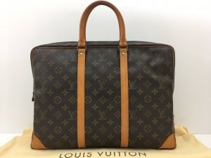 Louis Vuitton Porte-documents brun cuir