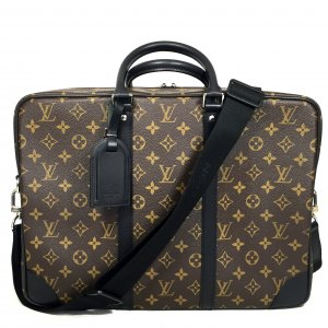 Louis Vuitton Porte Documents Voyage GM Monogram Macassar Tasche Business