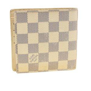 Louis Vuitton Cartera blanco fibra textil