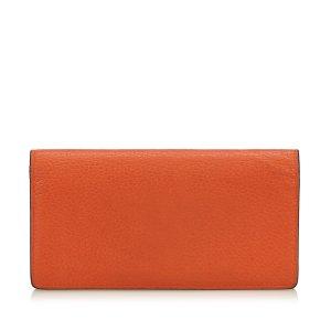 Louis Vuitton Cartera naranja Cuero