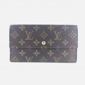 LOUIS VUITTON Portefeuille Sarah Long Trifold Wallet Monogram