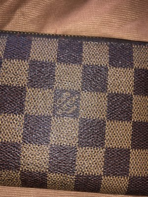 Louis Vuitton Portmonee Zippy Geldbörse canvas damier