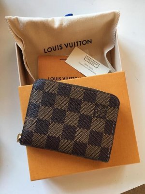 Louis Vuitton Portemonnee bruin-goud Leer