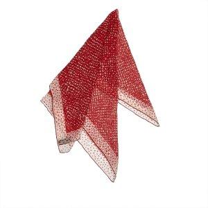 Louis Vuitton Bufanda rojo Seda