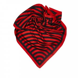 Louis Vuitton Scarf red silk