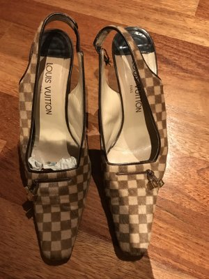 Louis Vuitton pumps gr. 38 aus Fell  & Leder