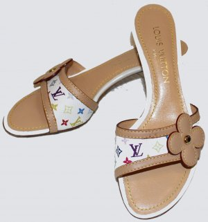 LOUIS VUITTON PUMPS PANTOLETTEN Multicolor Gr. 36