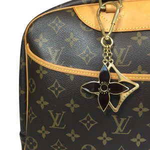 Louis Vuitton Portachiavi oro-marrone scuro Metallo