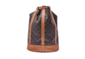 Louis Vuitton Backpack brown textile fiber
