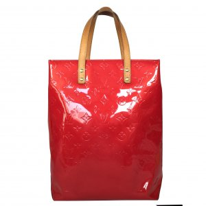 Louis Vuitton Reade MM Monogram Vernis Leder Rot Tasche Handtasche