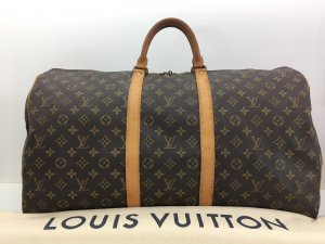 Louis Vuitton Borsa da viaggio marrone Pelle