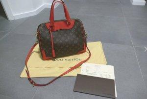Louis Vuitton Borsa rosso neon-marrone